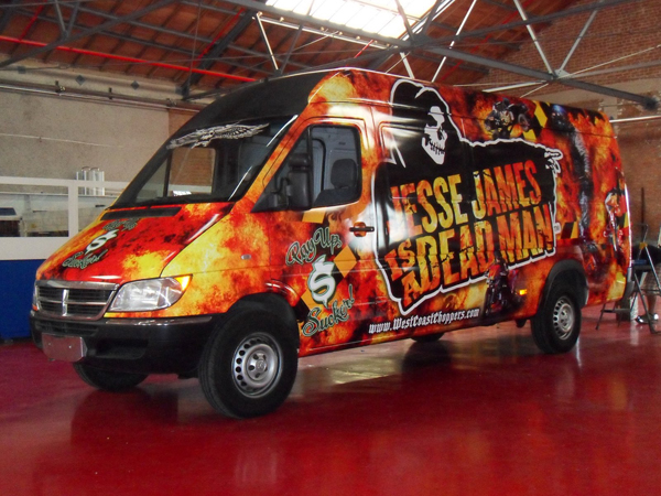 Vehicle graphics wrap for Jesse James in Los Angeles, CA